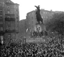 Bem statue demonstration